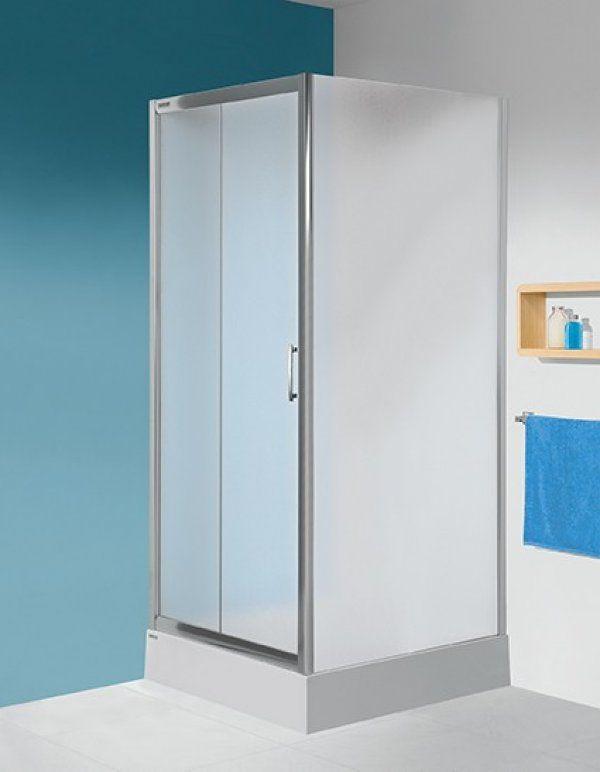 Sanplast DJ/TX5+SS0/TX5 szögletes, nyílóajtós sarok zuhanykabin 90 cm