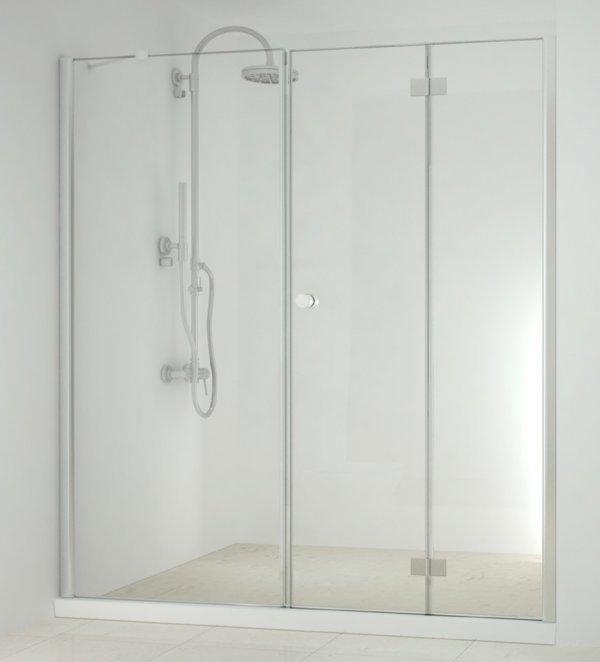 Sanotechnik Smartflex D1280FL/D1281FR csuklóajtó+zuhanyfülke fal 75,5-77,5 cm