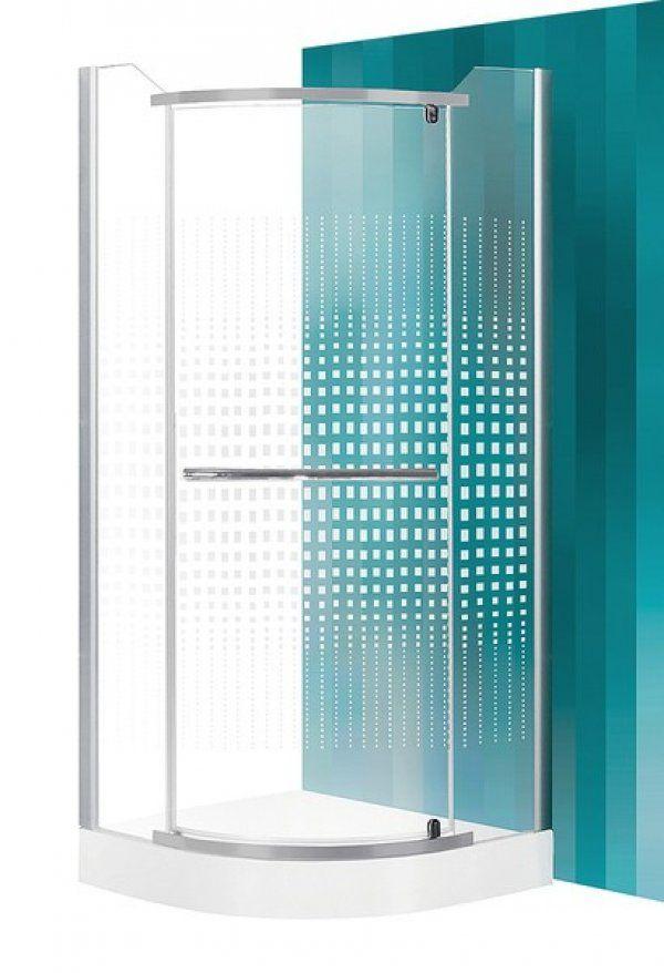 Roltechnik Sanipro Austin íves, nyíló zuhanykabin zuhanytálca nélkül 90 cm