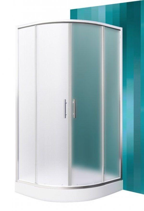 Roltechnik Sanipro Houston Neo íves, keretes, görgős zuhanykabin 90 cm