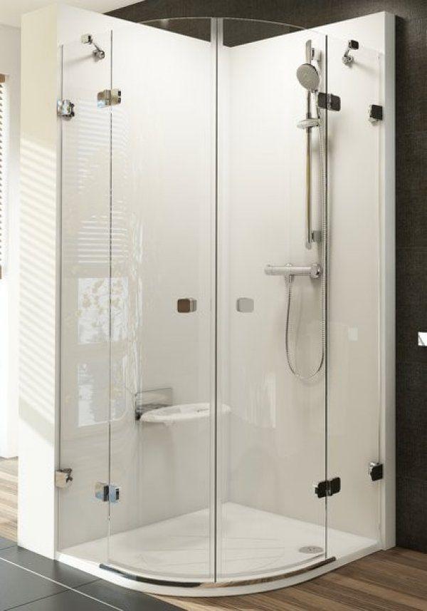 Ravak Brilliant BSKK4 négyrészes, negyedköríves zuhanykabin 90 cm