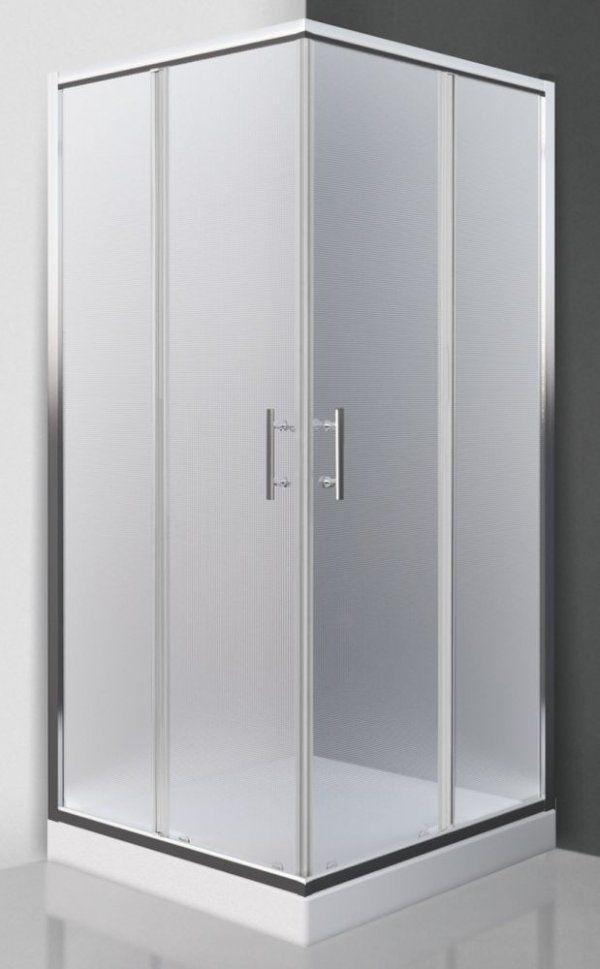 Roltechnik Sanipro Luzern Neo négyszögletes, keretes, görgős zuhanykabin 90 cm