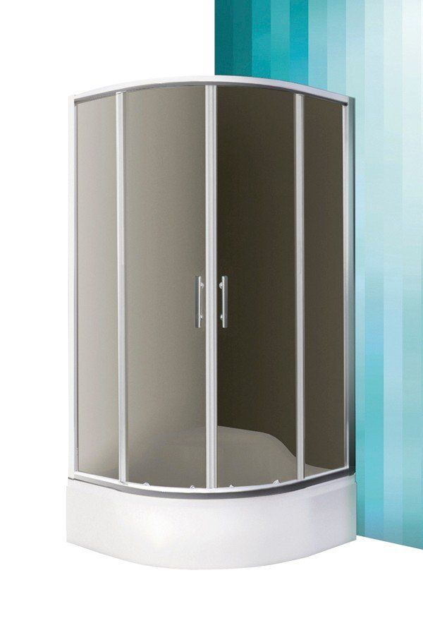 Roltechnik Sanipro Madison Neo íves, keretes, görgős zuhanykabin 80 cm