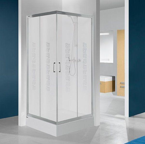 Sanplast KN/TX4, KN-kpl/TX4 sarokbelépős, szögletes zuhanykabin 80 cm