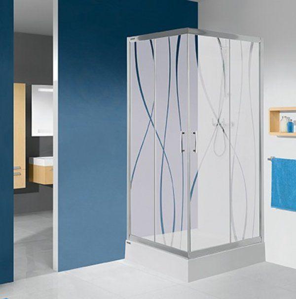 Sanplast KN/TX5, KN-kpl/TX5 szögletes, sarokbelépős zuhanykabin 100 cm