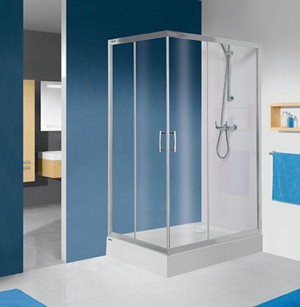 Sanplast KN/TX5 szögletes, sarokbelépős zuhanykabin 80x120 cm