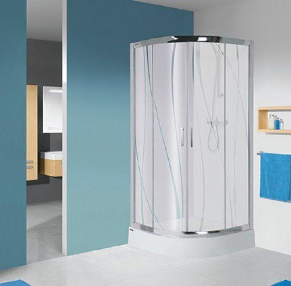 Sanplast KP4/TX5, KP4-kpl/TX5 negyedköríves sarok zuhanykabin 90 cm