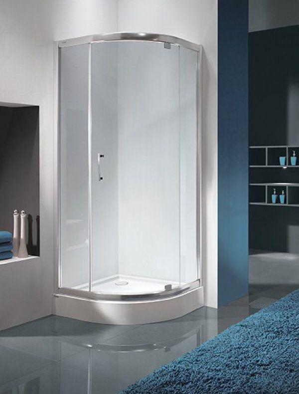 Sanplast KP1DJ/TX5 negyedköríves sarok zuhanykabin nyíló ajtóval 90 cm