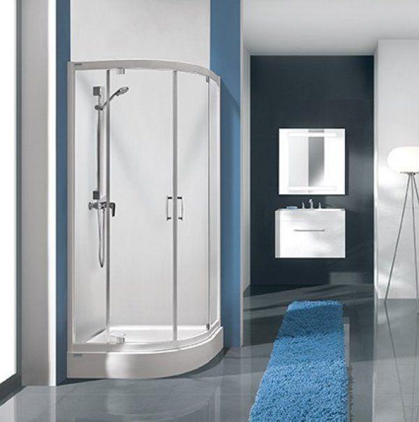 Sanplast KP2DJ/TX5 negyedköríves sarok zuhanykabin két nyíló ajtóval 90 cm