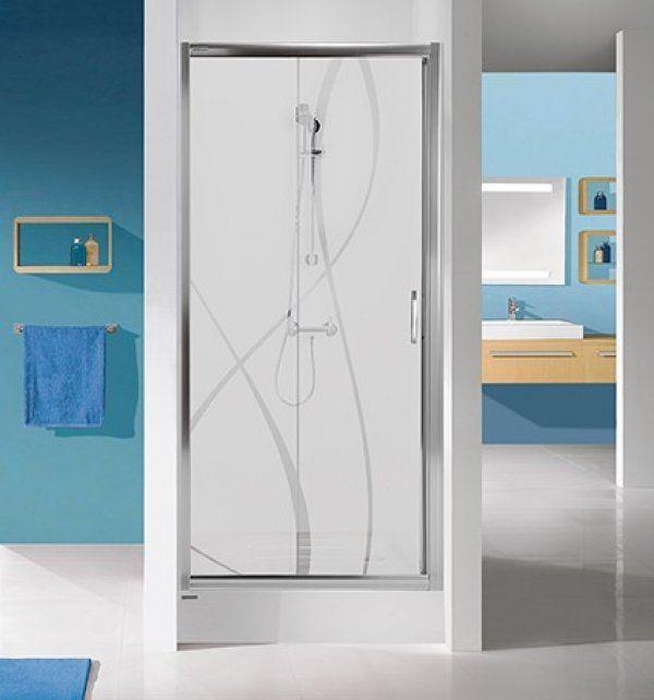 Sanplast D2/TX5 eltolható zuhanyajtó 90 cm