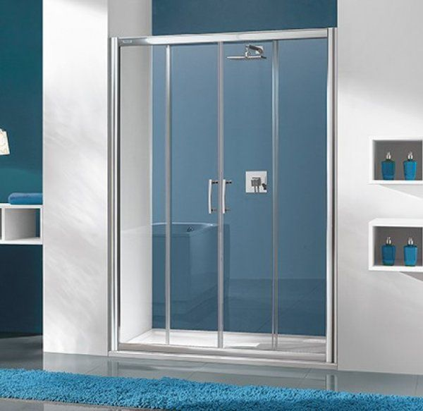Sanplast D4/TX5 eltolható zuhanyajtó 130 cm