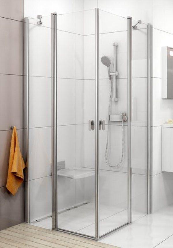 Ravak Chrome CRV2+CRV2 zuhanyajtó+zuhanyajtó sarokbelépővel 80 cm