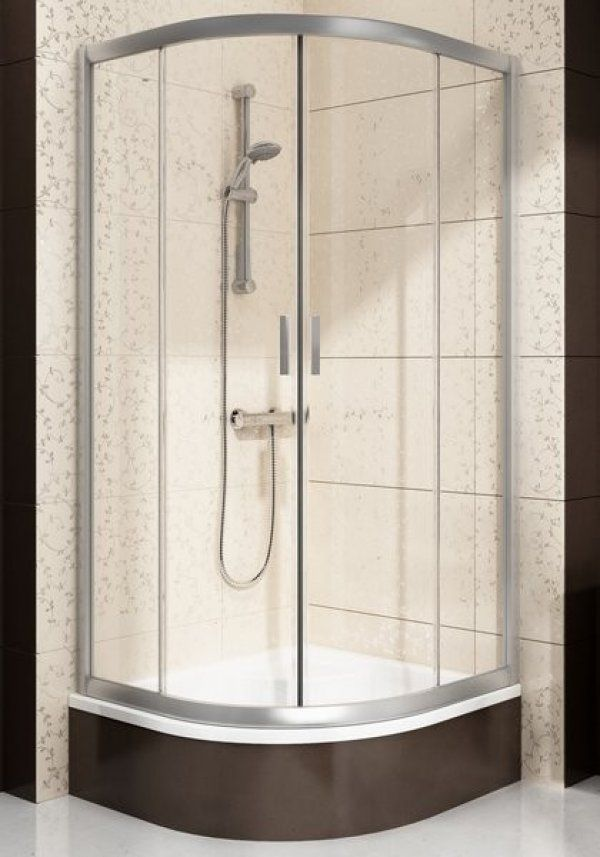 Ravak Blix BLCP4 Sabina négyrészes, negyedköríves, elcsúsztatható, alacsonyított zuhanykabin 80 cm