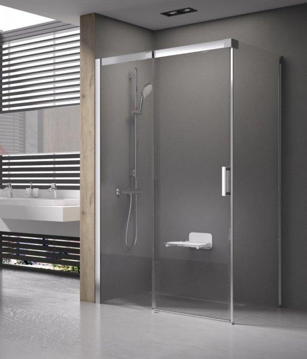 Ravak Matrix MSRV4 elcsúsztatható, négyrészes zuhanykabin sarok belépővel 80 cm