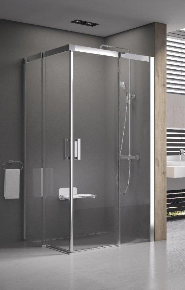 Ravak Matrix MSDPS zuhanyajtó és fix oldalfal, elölről belépős zuhanysarok 110 cm