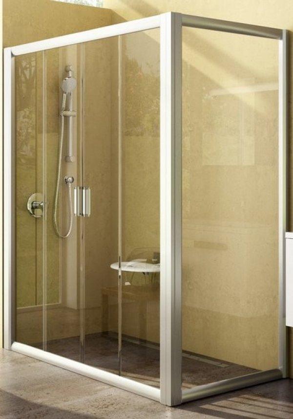 Ravak Rapier NRDP4+RPS zuhanyajtó+fix oldalfal, elölről belépős zuhanysarok 80 cm