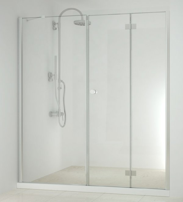 Sanotechnik Smartflex D1290FL/D1291FR csuklóajtó+zuhanyfülke fal 76,5-78,5 cm