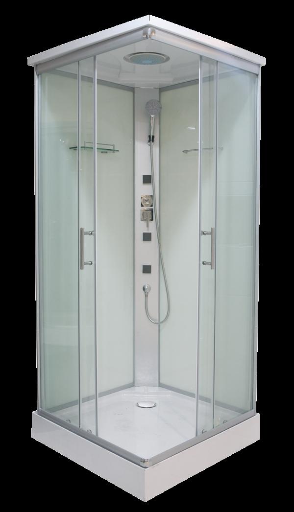 Sanotechnik Twist CL06 szögletes hidromasszázs zuhanykabin 90 cm