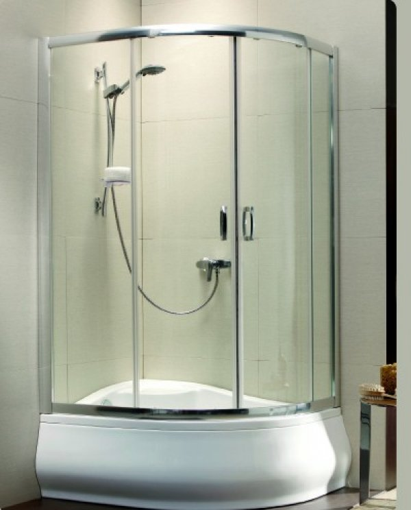 Radaway Premium Plus E1700 asszimetrikus zuhanykabin 100x80 cm