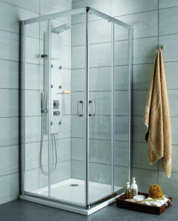 Radaway Premium Plus D asszimetrikus zuhanykabin 90x80 cm