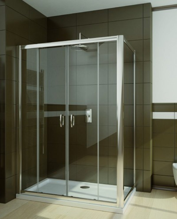 Radaway Premium Plus DWD+S téglalap zuhanykabin 160 cm