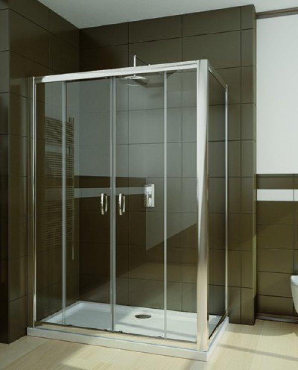 Radaway Premium Plus DWD+S téglalap zuhanykabin 180 cm