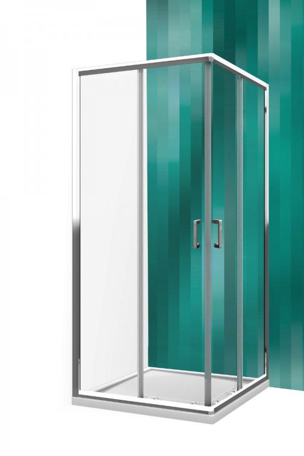Roltechnik Lega Line LLS2 szögletes zuhanykabin kétrészes tolóajtóval 77,5x79 cm