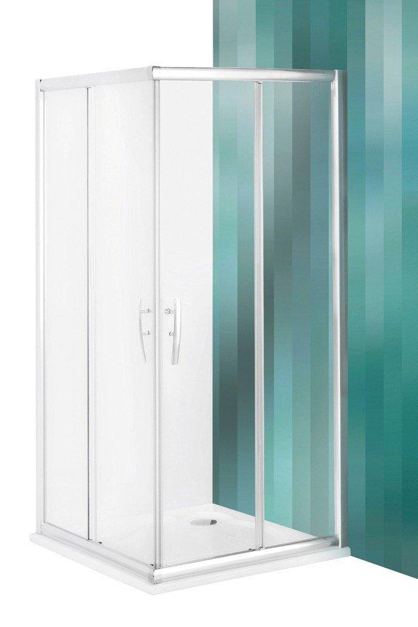 Roltechnik Proxima Line PXS2L+PXS2L négyszögletes zuhanykabin kétrészes tolóajtóval 90 cm