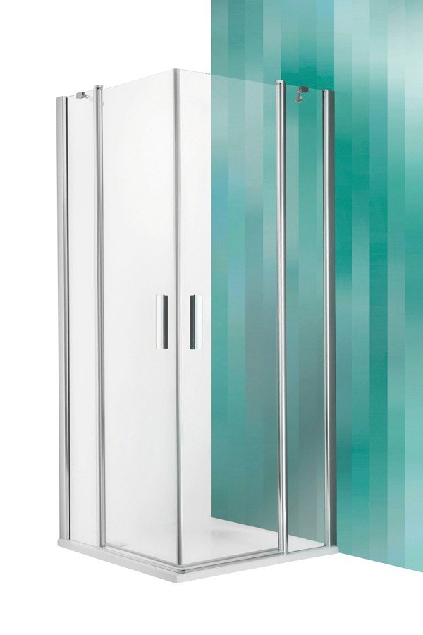 Roltechnik Tower Line TDO1+TDO1 szögletes zuhanykabin 80 cm (ezüst profil)