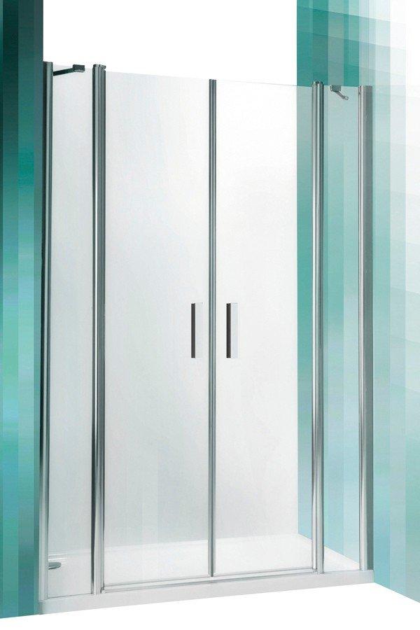 Roltechnik Tower Line TDN2 kétszárnyas nyitható zuhanyajtó két fal közé 120 cm (ezüst profil)