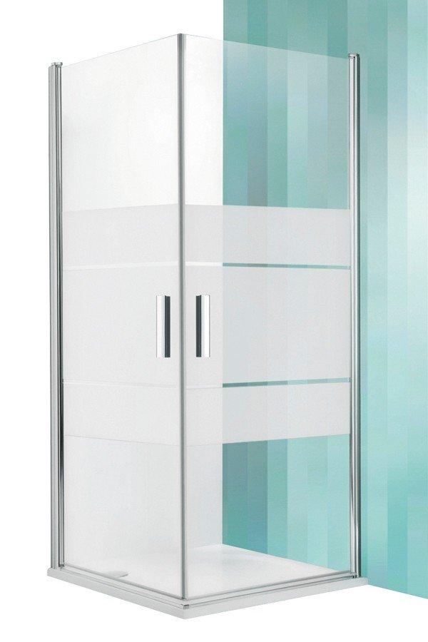 Roltechnik Tower Line TCO1+TCO1 négyszögletes zuhanykabin kétszárnyas ajtóval 90 cm