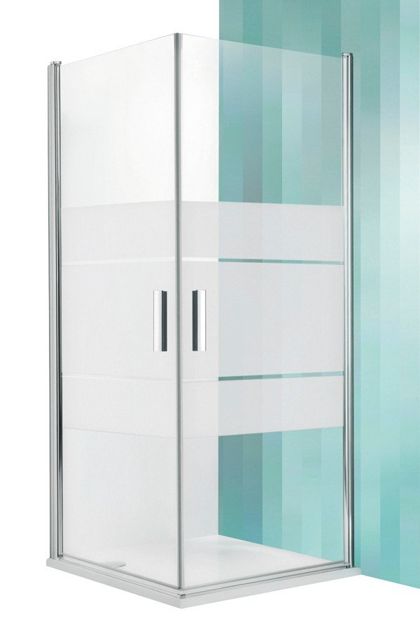 Roltechnik Tower Line TCO1+TCO1 négyszögletes zuhanykabin kétszárnyas ajtóval 110 cm