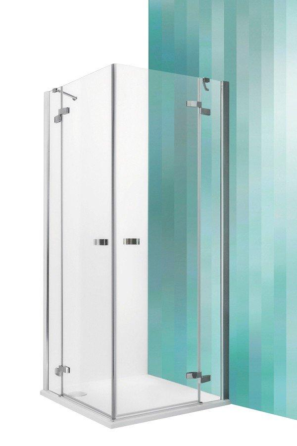 Roltechnik Elegant Line GDOL1+GDOP1 két részből álló szögletes zuhanykabin dupla nyílóajtóval 130 cm