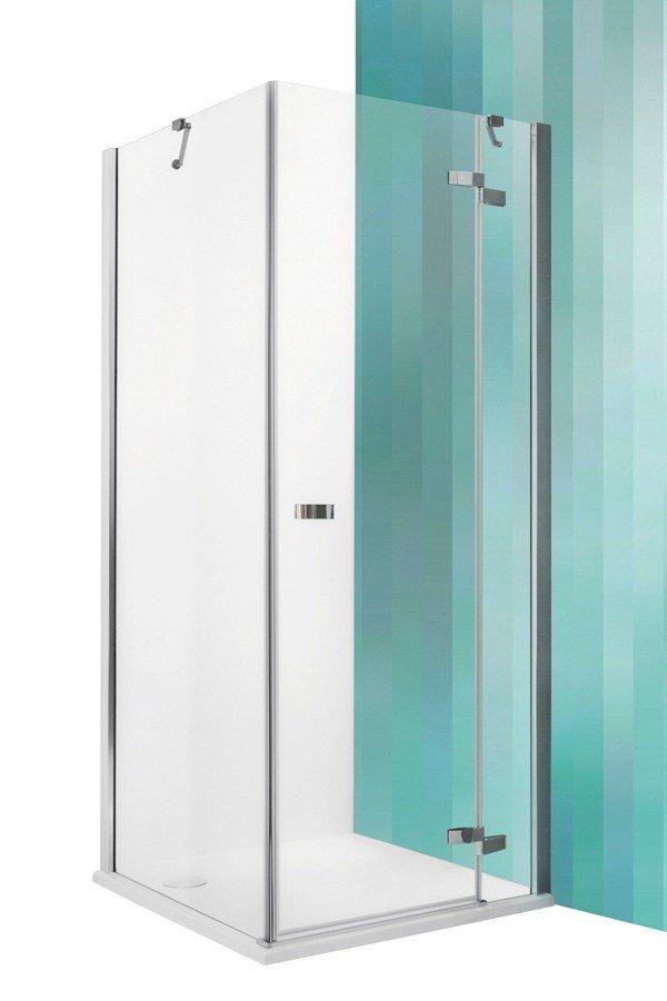 Roltechnik Elegant Line GDOP1+GBL szögletes zuhanykabin nyíló zuhanyajtóval 90 cm